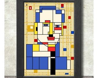 Piet Mondrian Poster Print A3+ 13 x 19 in - 33 x 48 cm Buy 2 Get 1 Free