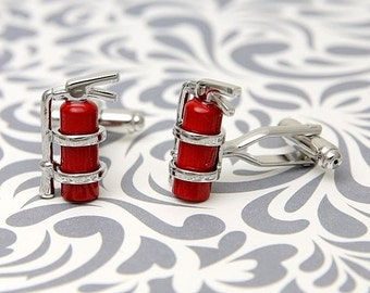 ON SALE Firemen Cufflinks Extinguisher Fire