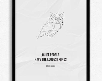 Owl | Origami inspired geometric print