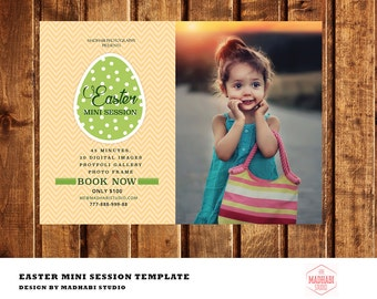Easter Mini Session Template - Easter Marketing Board - Easter Template for Photographers - Easter Card -PhotoshopTemplate -INSTANT DOWNLOAD