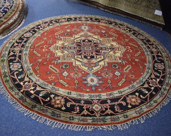 Nice Quality hand knotted Serapi Round Rug