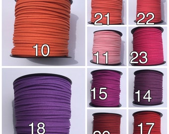 20 yards of faux suede cord, suede cord for jewelry making, suede cord for bracelet, suede cord for necklace, suede string
