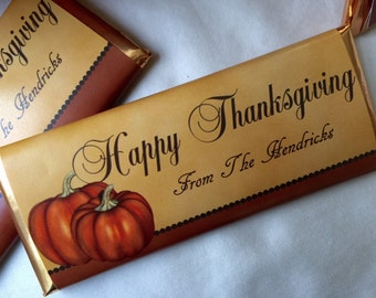 Happy Thanksgiving Candy, Thanksgiving Party Favors, Thanksgiving Table Decor, Thanksgiving Invitations, Fall Decor, Fall Party Favor, 24 ct
