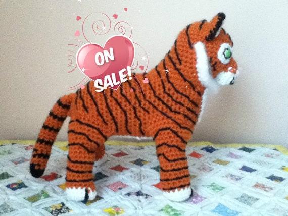 SALECrochet Amigurumi Tiger Doll