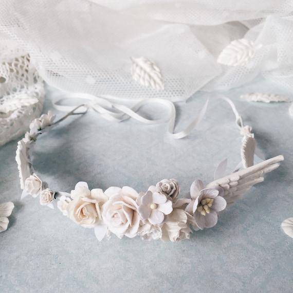 Wedding White Flower Crown: White Flower Crown First Communion White Wedding Crown By