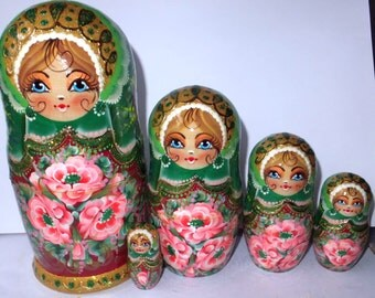 Russian doll Matryoshka  Green