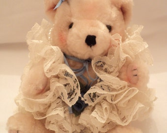 Stuffed Bear, Stuffed Teddy, Decorative Bear, Dressed Bear, Dressed Teddy, Vintage Teddy, Vintage Bear
