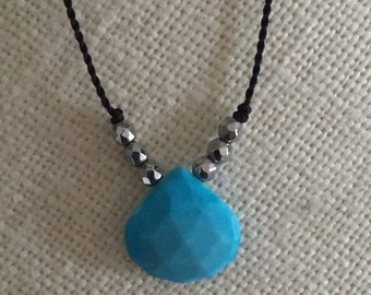Turquoise 3 Bead Necklace