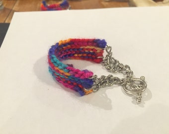 Crochet/ Two Chain Bracelet