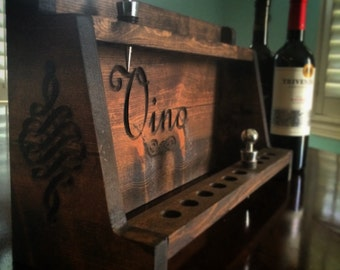 """Wine Stopper Display (Holds 20 wine bottle stoppers!) (16"""" x 10"""" x 6"""") Vino, Trendy, Rustic, Vintage"""