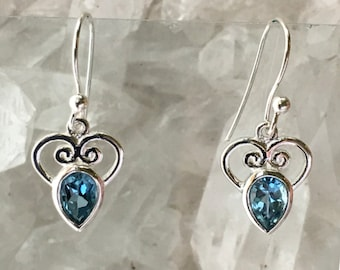 Blue Topaz Earrings | Blue Topaz Jewelry | Topaz Earrings | Topaz Jewelry | Gemstone Earrings | Gemstone Jewelry | December Birthstone