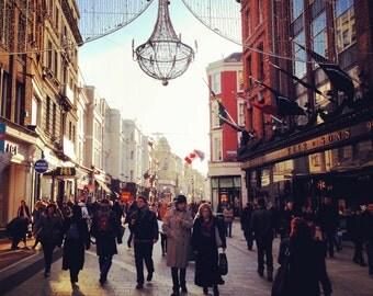 Grafton Street, Christmas, Dublin, Ireland Photography, Winter Art