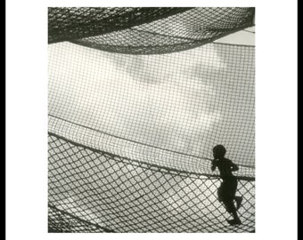 In the net. Darkroom silver print