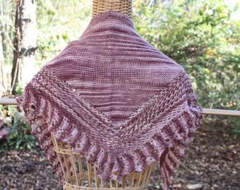 shawl, shawls, brown shawl, brown shawls, hand knit shawls, knit shawls, shawlettes, scarves, knit scarves, knit shawlettes,