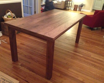Solid Walnut Table - Farmhouse, Kitchen Table, Desk, Conference Table