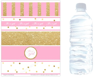 baby shower water bottle labels instant download baby shower water