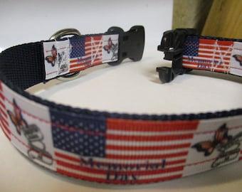 Memorial Day dog collar