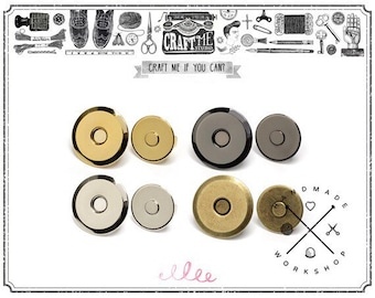 20MM 10SET METAL Thin Magnetic Snaps Button / Metal Plated Magnetic Snaps Closure button