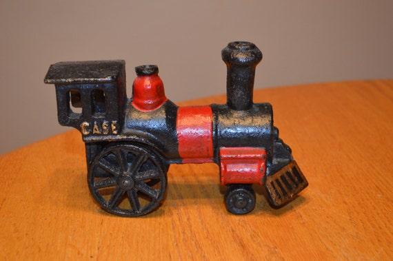 Vintage cast iron case train r