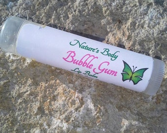 Bubble Gum Lip Balm, Natural Lip Balm, Organic Shea Butter Lip Balm