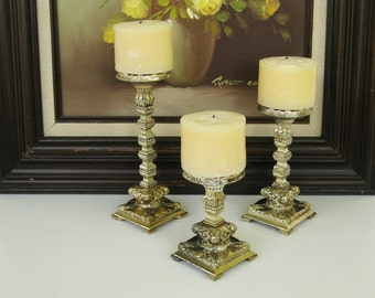 Gold Candle Holders Hollywood Regency Candle Holders