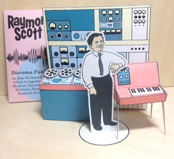 Raymond Scott Card Diorama