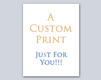 Custom Print For caroledigi only Gold Foil Print, custom signs Art Real Foil