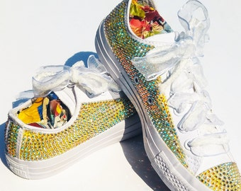 Converse All Star-Swarovski sneakers-Sparkly sneakers-Swarovski Crystal-Bling sneakers-Glitter Shoes-Rhinstone sneakers-Evening sneakers
