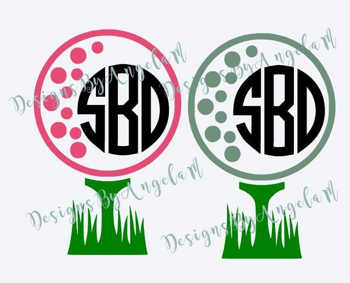 Download Golf Monogram SVG Digital cutting file Instant Download Use