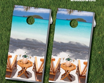 Beach Chairs Cornhole Game With Cornhole Bags