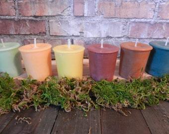 4 Soy Votive Candles, Kitchen Scents