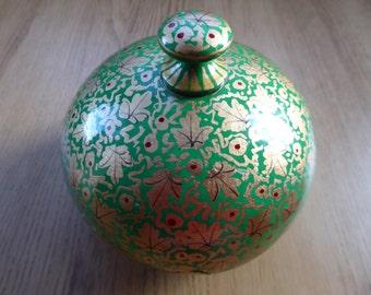 Handmade Kashmiri Bowl & Lid