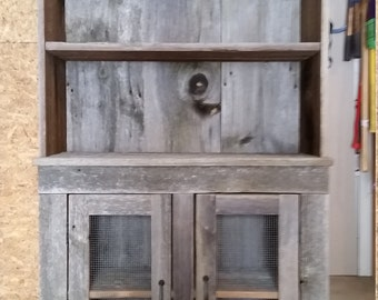 Reclaimed Barn Wood Hutch