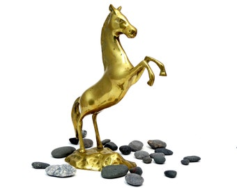 Horse figurine - Brass horse - Jumping Horse - Horse statue - Collectible horse - Brass horse figurine - Gift for horse lovers - Horse decor
