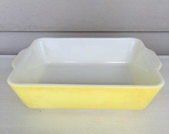 Vintage Pyrex 503 - Fridge Dish - yellow- NO LID! - 1.5 QT - #42