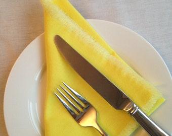 Set of 4- Vintage Sunshine Yellow