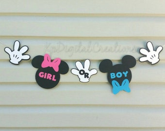 Mickey Gender Reveal, Mickey baby shower, Gender reveal ideas, Minnie baby shower, gender reveal, it's a boy, it's a girl, mickey or minnie