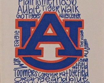 Auburn Phrases Canvas