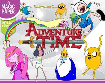 Adventure Time Clipart - Digital 300 DPI PNG Images, Photos, Scrapbook, Digital, Cliparts - Instant Download