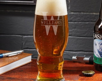 Personalized IPA Glass - Oakmont Design - Gift for Beer Lovers Personalized with Name - Cool Idea for Dad Brother & Boyfriend Beer Lovers