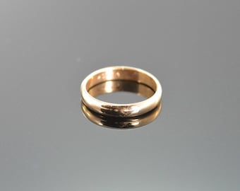 10K Simple Rounded Baby Band Ring - Size 1 / Yellow Gold - EL10277