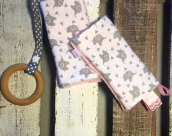 Baby Grey Elephant Tula & Ergo Teething Pads