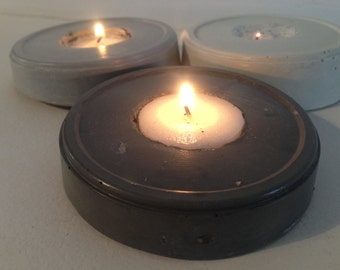 Candlestick table round concrete | Round concrete table candlestick
