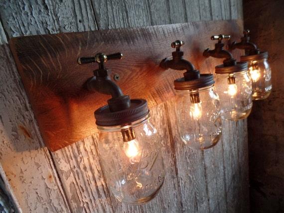 26 32 4 mason jar light fixture faucet style for Plumbing light fixtures