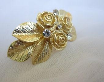 Gold Grecian leaf hair clip, leaf hair barrette, wedding hair clip, gold leaf hair, woodland wedding, bridal hair accessory,  gold leaf clip