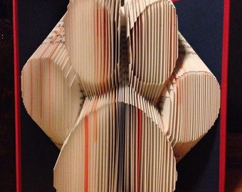 Large Paw Print - Folded Book Art