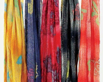 Scarves -Hand Painted Cotton Scarves