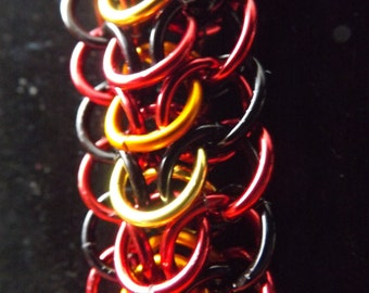 Fire Dragonback Chainmaille Bracelet - Ready to Ship