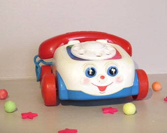 Fisher Price chatter telephone, 1993, vintage toy for kid