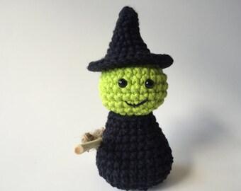 Crochet Witch, Amigurumi Witch, Handmade Witch, Witch Doll, Halloween Witch, Halloween Decor, Fall Decor